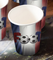 10 gobelets jetables carton foot France