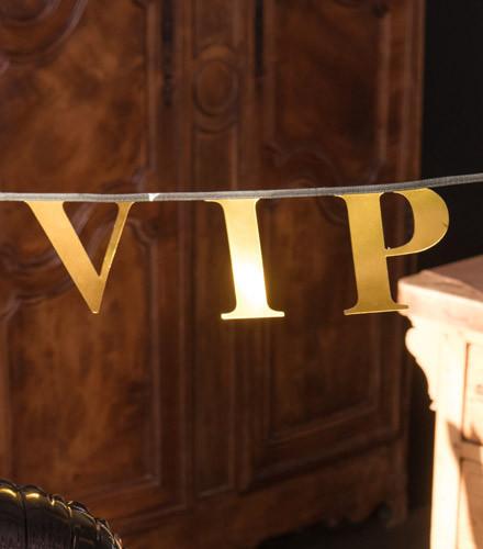 Guirlande carton VIP or métallisé