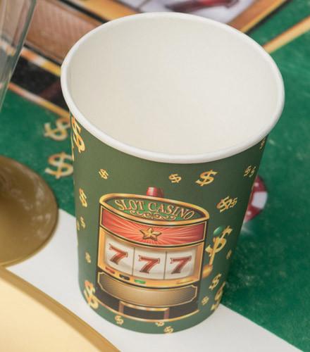 10 gobelets jetables carton casino