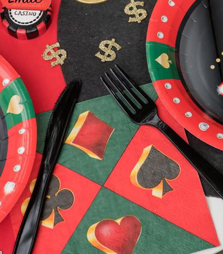 20 serviettes jetables papier casino