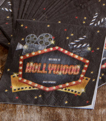20 serviettes jetables papier Hollywood