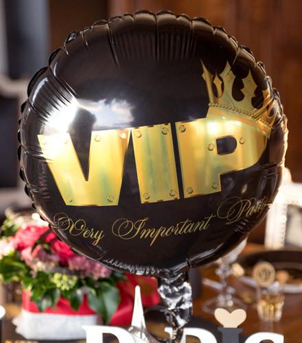 Ballon gonflable VIP rond noir