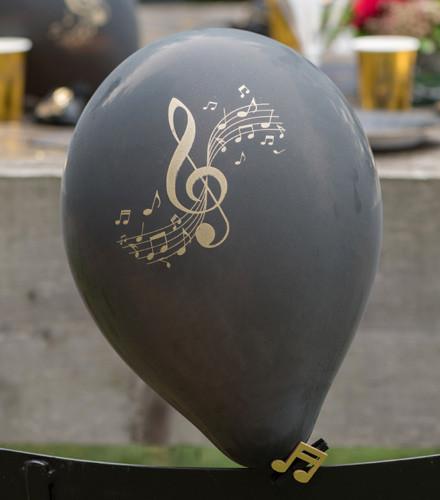 8 ballons gonflables musique noirs