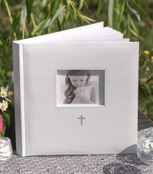 Livre d'or Communion photo papier blanc