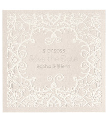 4 save the date mariage effet dentelle