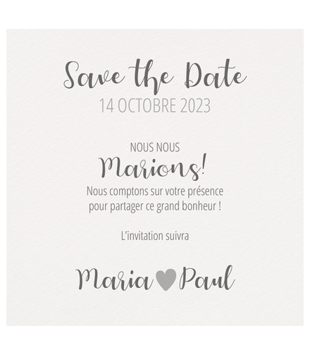 4 save the date mariage contemporain