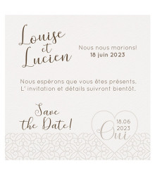 4 save the date mariage coeur et arabesques
