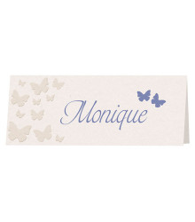 6 marque-places mariage papillons