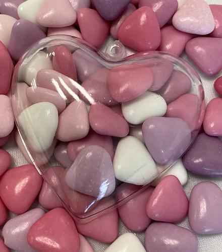 Dragées coeur chocolat mélangées rose - 500g