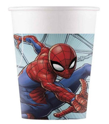 8 gobelets jetables plastique Spiderman 20 cl