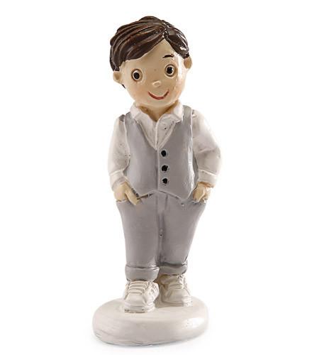 Sujet à dragées Communion garçon figurine costume résine 4,5 cm