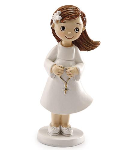 Sujet à dragées Communion fille figurine Lise résine 8,5 cm