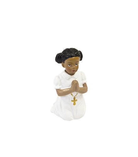 Sujet à dragées Communion fille noire figurine 6 cm