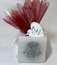 Pack personnalisé mariage oriental photophore main cire colorée