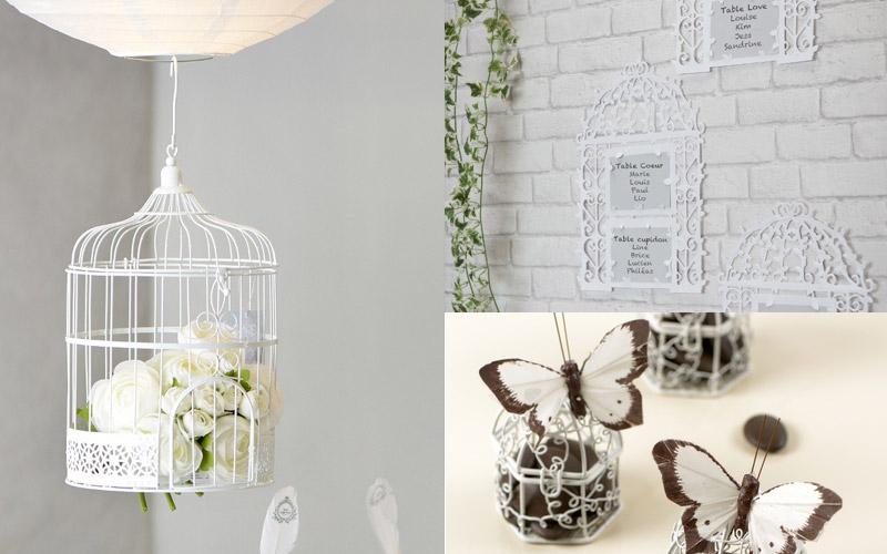 décoration mariage cage à oiseau