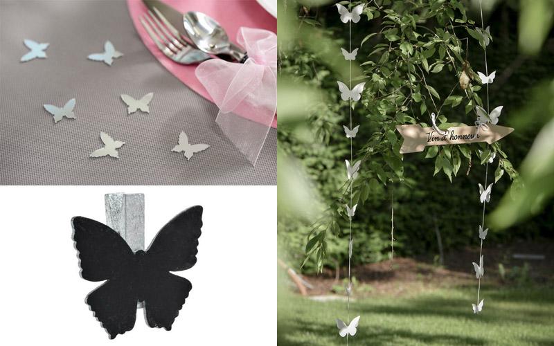 décoration mariage papillon