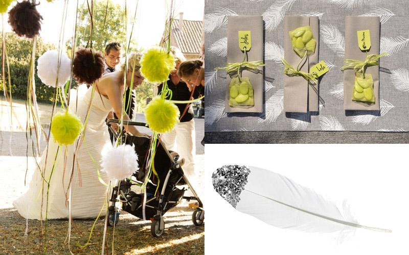 décoration mariage plume