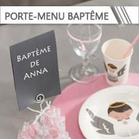 Porte-menu Baptême