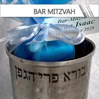 Contenants + Dragées Bar Mitzvah personnalisés