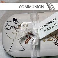 Contenants + Dragées Communion personnalisés