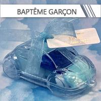 Contenants + Dragées Baptême Garçon personnalisés