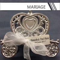 Contenants + Dragées Mariage personnalisés