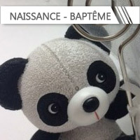 Contenants + Dragées Baptême/Naissance personnalisés