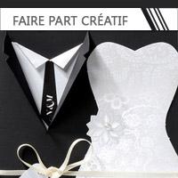 Faire Part Mariage créatif