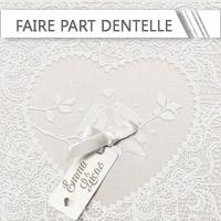 Faire Part Mariage Dentelle