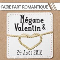 Faire Part Mariage Romantique