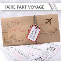 Faire Part Mariage Voyage