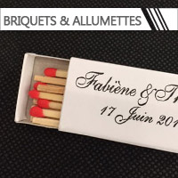 Briquets & Allumettes personnalisés Mariage