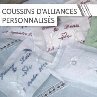 Coussins à Alliances personnalisé
