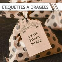 Etiquettes pour Dragées