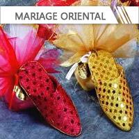Contenants + Dragées Mariage oriental personnalisés