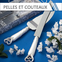 Pelles & Couteaux à Gâteau Mariage